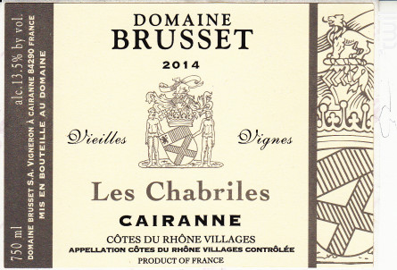 Les Chabriles - Domaine Brusset - 1993 - Rouge