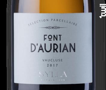 Font d'Aurian - Les Vins de Sylla - 2017 - Blanc