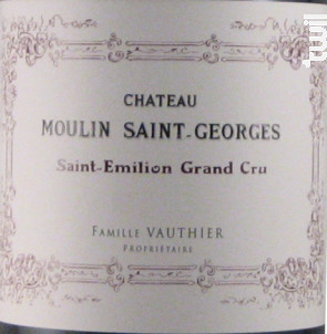 Château Moulin Saint-Georges - Château Moulin Saint-Georges - 2017 - Rouge