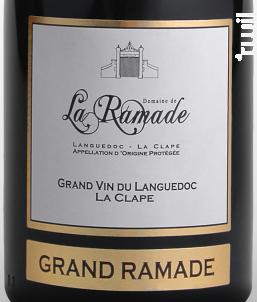 Grand Ramade - Domaine de la Ramade - 2017 - Rouge