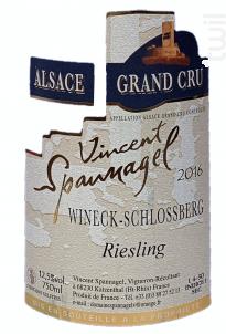 Riesling Grand Cru Wineck Schlossberg - Domaine Vincent Spannagel - 2016 - Blanc