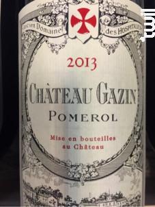 Château Gazin - Château Gazin - 2013 - Rouge