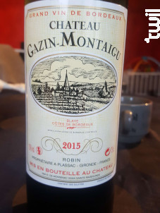Château Gazin-Montaigu - Château Gazin-Montaigu - 2015 - Rouge