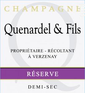 Réserve Demi-Sec - Champagne Quenardel et Fils - Non millésimé - Effervescent