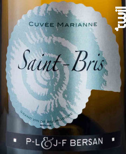 Saint-Bris Cuvée Marianne - Domaine JF & PL Bersan - 2014 - Blanc