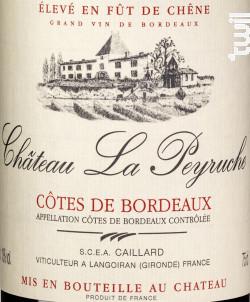 Fût de Chêne - Château La Peyruche - 2015 - Rouge