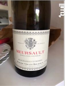 Meursault - Domaine Vincent Bouzereau - 2017 - Blanc