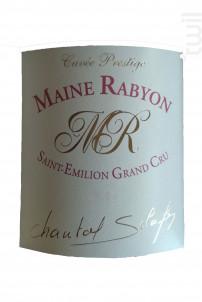 Maine Rabyon - Château La Renommée - 2014 - Rouge