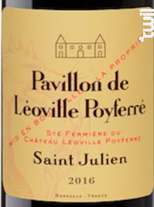 Pavillon de Léoville Poyferré - Château Léoville Poyferré - 2016 - Rouge