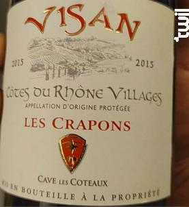 Les Crapons - La Cave des Coteaux de Visan - 2015 - Rouge
