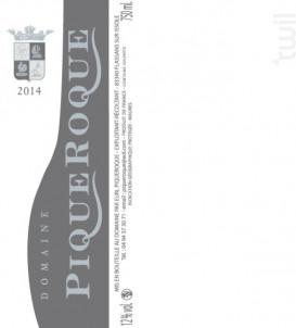 Vin de Pays des Maures - Domaine de Piqueroque - 2015 - Rouge