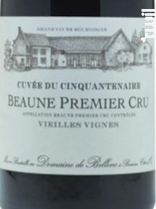 Beaune Premier Cru Cuvée Du Cinquantenaire - Domaine de Bellene - 2015 - Rouge