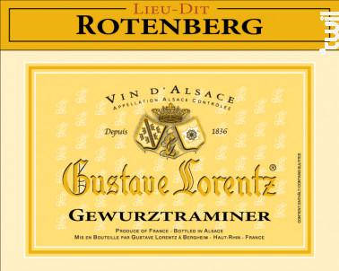 Gewurztraminer Lieu-Dit Rotenberg - Gustave Lorentz - 2015 - Blanc