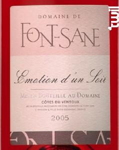 Émotion d'un Soir - Domaine de Font-Sane - 2020 - Rosé