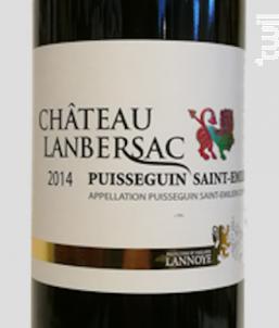 Château Lanbersac - Vignobles Francoise Et Philippe Lannoye - 2014 - Rouge