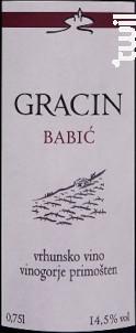 Gracin Babic - Suha Punta - 2011 - Rouge
