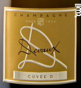 Cuvée D - Champagne Devaux - Non millésimé - Effervescent