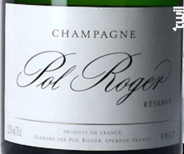 Champagne Pol Roger Brut Reserve + Etui - Champagne Pol Roger - Non millésimé - Effervescent