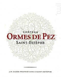 Château Ormes de Pez - Jean-Michel Cazes - Château Ormes de Pez - 2012 - Rouge