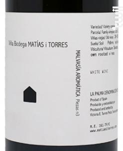 Malvasia Aromatica - Bodega Matías i Torres - 2015 - Blanc