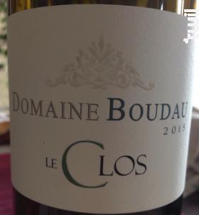 LE CLOS - Domaine BOUDAU - 2018 - Blanc