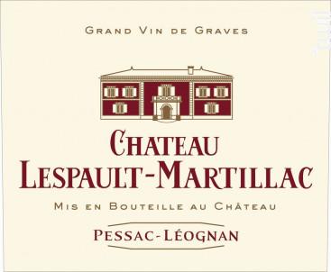 Château Lespault-Martillac - Domaine de Chevalier - 2015 - Rouge