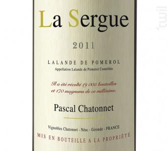 La Sergue - Vignobles Chatonnet - 2011 - Rouge