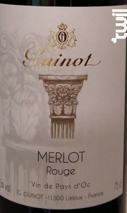 Merlot Boisé - Maison Guinot depuis 1875 - 2017 - Rouge