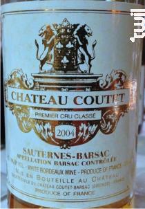 Château Coutet - Château Coutet - 2004 - Blanc