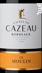 Château Cazeau Le Moulin - Maison Le Star - Château Cazeau - 2016 - Rouge