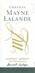 Château Mayne Lalande - Château Mayne Lalande - 2015 - Rouge