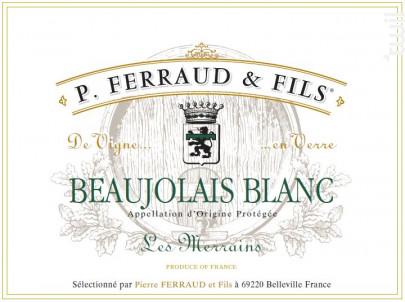 Les Merrains - P. Ferraud & Fils - 2019 - Blanc