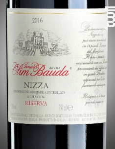 Nizza DOCG Riserva - OLIM BAUDA - 2016 - Rouge