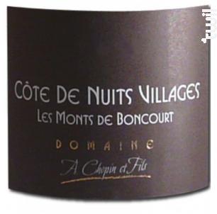 Côte de Nuits Villages Les Monts de Boncourts - Domaine Chopin et Fils - 2015 - Blanc