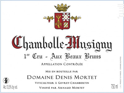 Chambolle-Musigny 1er Cru – Aux Beaux Bruns - Domaine Denis et Arnaud Mortet - 2016 - Rouge