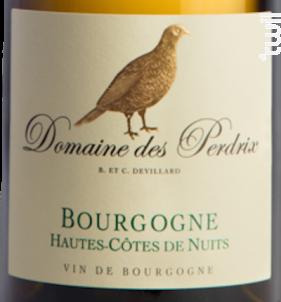 Bourgogne Hautes-Côtes de Nuits - Domaine des Perdrix - 2015 - Blanc