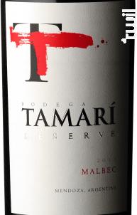 Reserva Malbec - Tamari - 2015 - Rouge