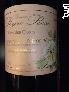 Clos des Cistes - Domaine Peyre Rose - 2009 - Rouge