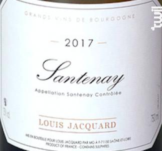 Santenay - Louis Jacquard - 2017 - Rouge