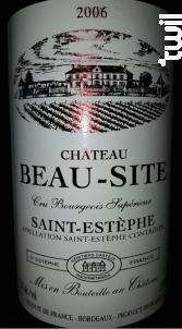 Château Beau-Site - Château de Beau-Site - 2006 - Rouge