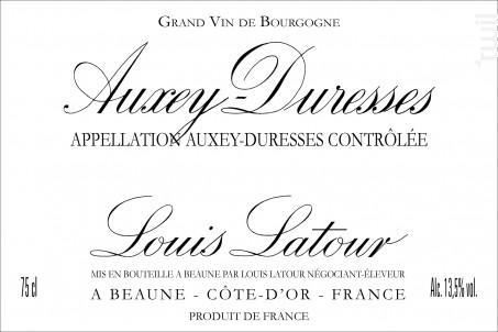 Auxey-Duresses Blanc - Maison Louis Latour - 2008 - Blanc
