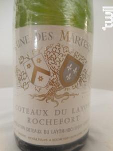 Coteaux-du-Layon Rochefort - Domaine des martereaux - 1973 - Blanc