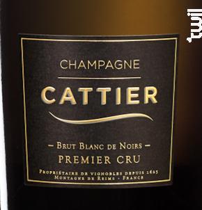 Brut Blanc de Noirs Premier Cru - Champagne Cattier - Non millésimé - Effervescent