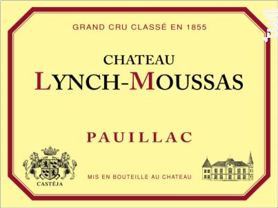 Château Lynch-Moussas - Château Lynch-Moussas - 2020 - Rouge