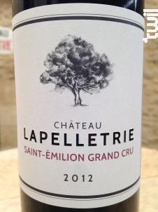 Château LAPELLETRIE - Château Lapelletrie - 2012 - Rouge