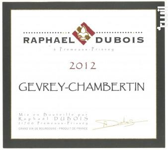 Gevrey-Chambertin - Raphaël Dubois - Domaine R. Dubois et Fils - 2014 - Rouge