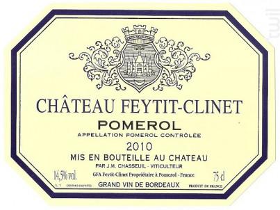 Château Feytit Clinet - Château Feytit Clinet - 2010 - Rouge