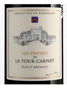 Les Pensées de la Tour Carnet - Bernard Magrez - Château La Tour Carnet - 2017 - Rouge