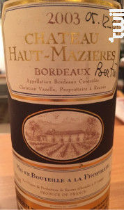 Château Haut-Mazières - Château Haut-Mazières - 1994 - Rouge