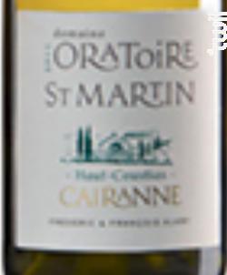 Haut-coustias - Domaine Oratoire St. Martin - 2017 - Blanc